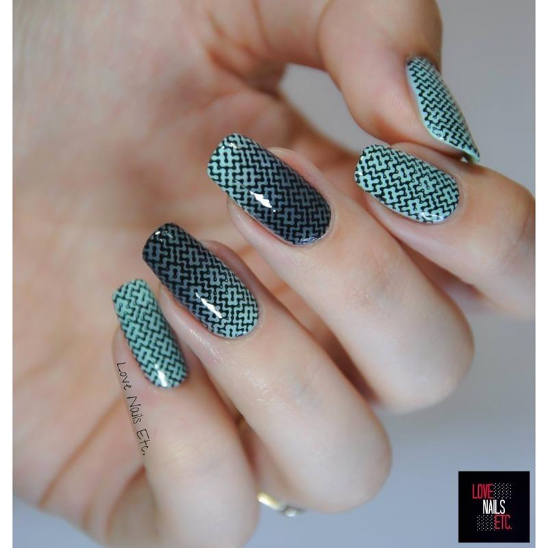 Mint illusion nail art by Love Nails Etc