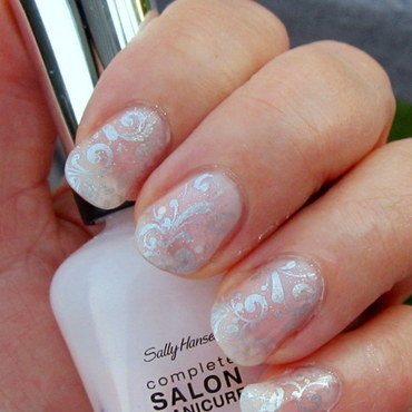 Delicate Silver nail art by HELEN KAY