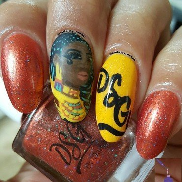 Egyptian Queen  nail art by Milly Palma