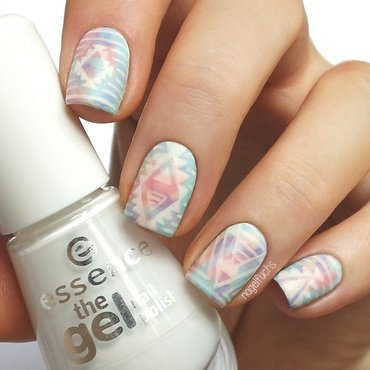 Pastel Tribal nail art by nagelfuchs