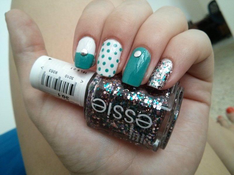 turquoise nail art by Maya Harran