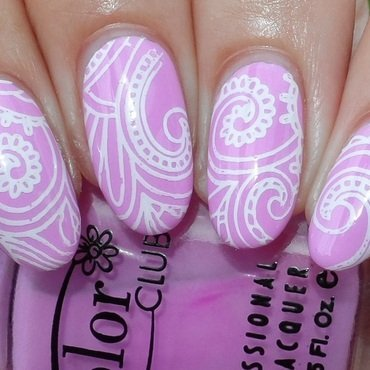 Mehndi Stamping nail art by Plenty of Colors