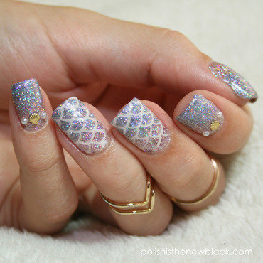 Mermaid Nails nail art by Polishisthenewblack