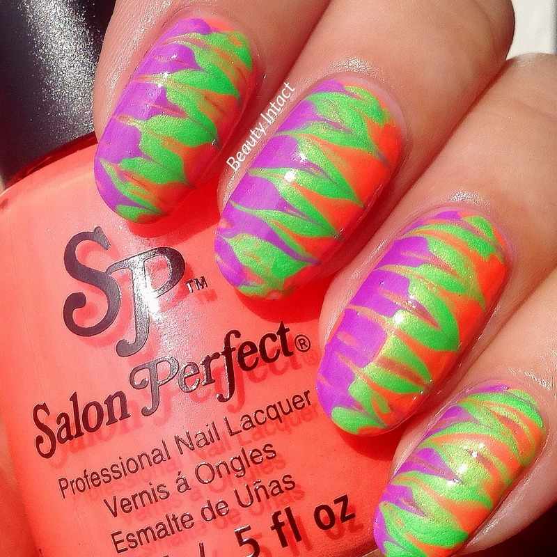 Dry Marble Nails nail art by Beauty Intact