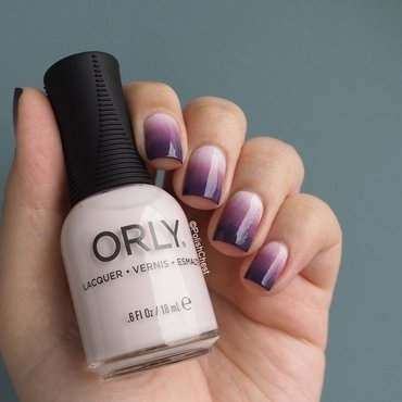 Purple Gradient nail art by Danny