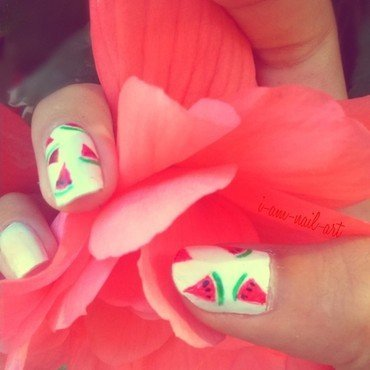 watermelon nail art by i-am-nail-art