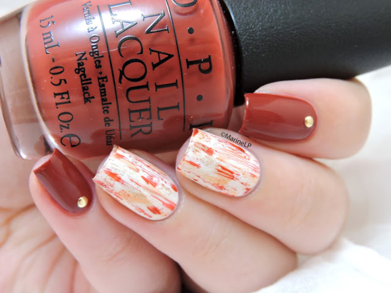 First date at the Golden Gate nail art by Marine Loves Polish