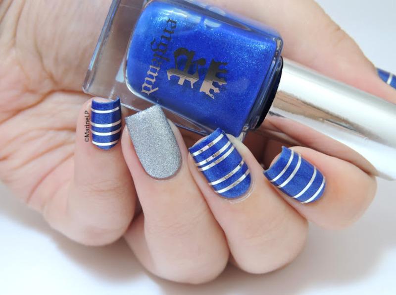 Un petit air marin... nail art by Marine Loves Polish
