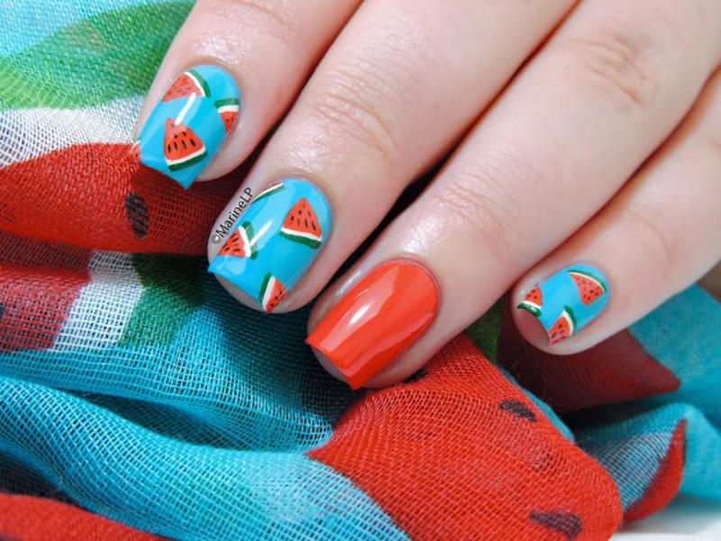 Watermelon nails nail art by Marine Loves Polish - Nailpolis: Museum ...