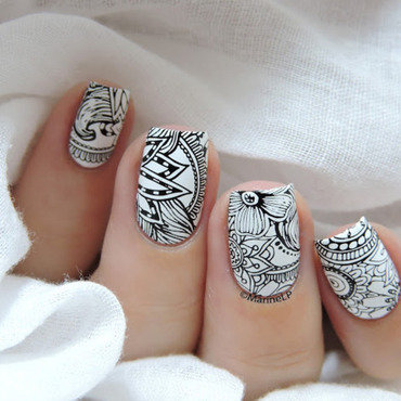 Black&White nail art by Marine Loves Polish