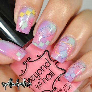 Pastel Gradient & Water Decals nail art by Maddy S