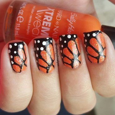 Butterfly Nail Art nail art by Olivia D.