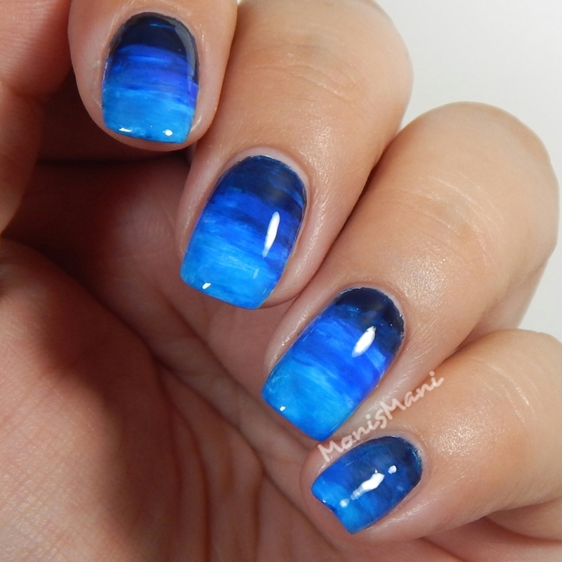 Ocean currents nail art by Moni'sMani
