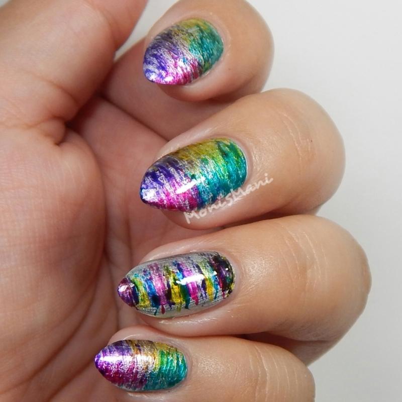 Fanbrush  nail art by Moni'sMani