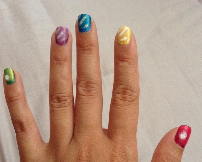 Candy Crush nail art by Idreaminpolish