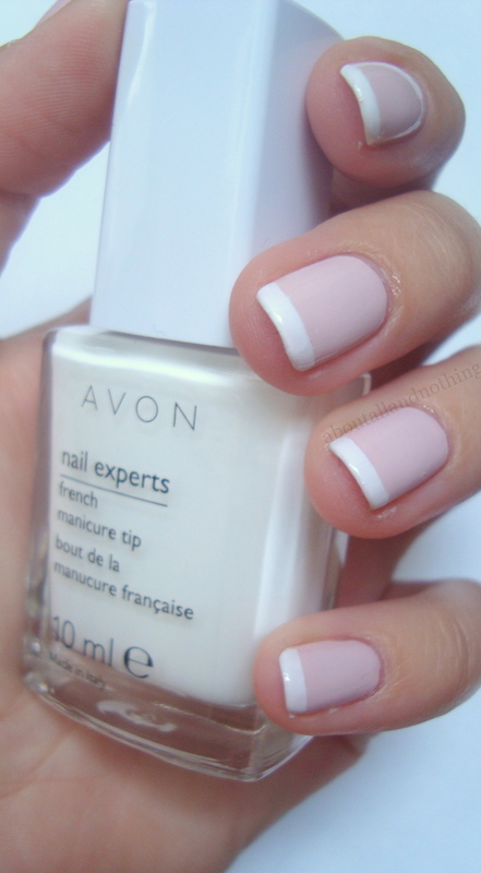 Avon French Manicure Set French Tip Lilac Swatch by Kasia