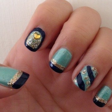 Necktie  nail art by Idreaminpolish