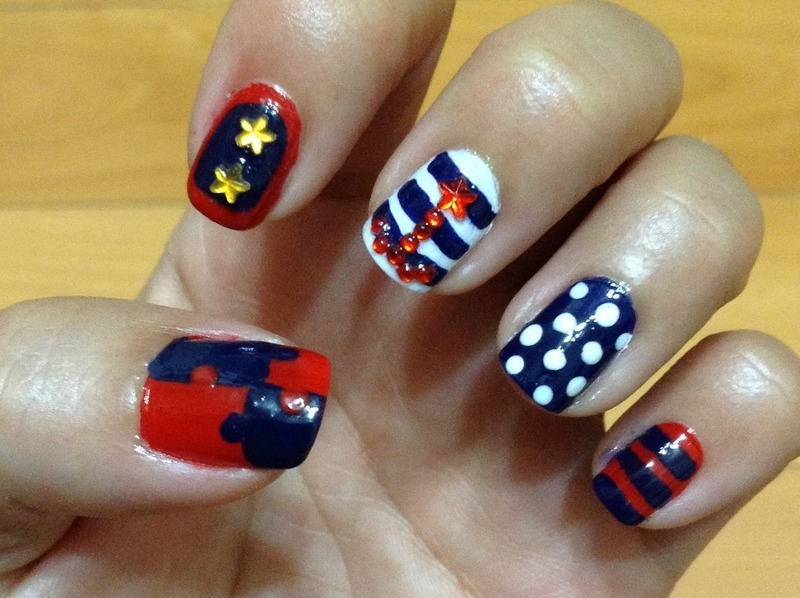 Totally Nautical nail art by Idreaminpolish