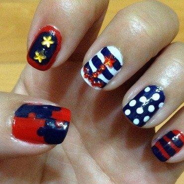 Totally Nautical nail art by Idreaminpolish