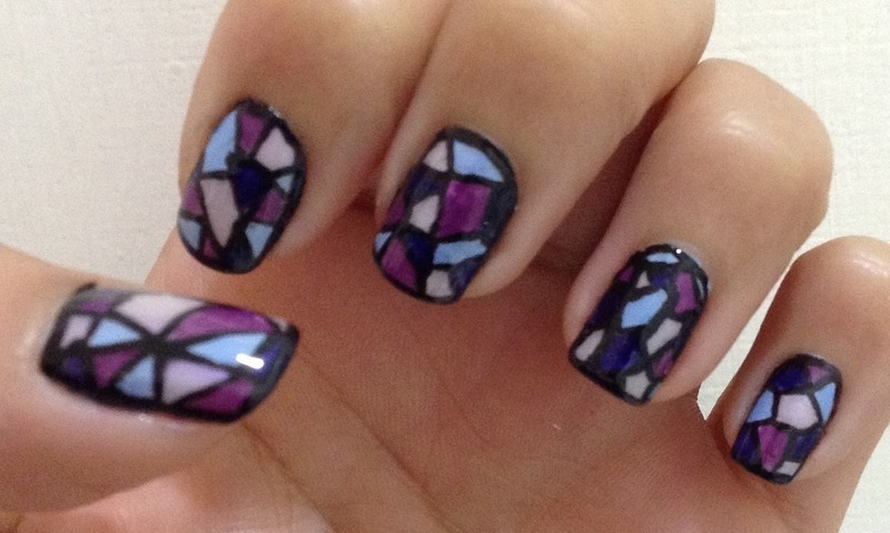 Stained Glass nail art by Idreaminpolish