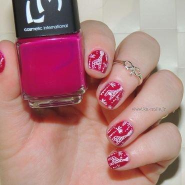A small Giraffe nail art by Ka'Nails
