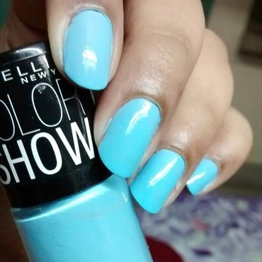 Maybelline Colorshow Blueberry Ice Swatch by Sohini  Sengupta