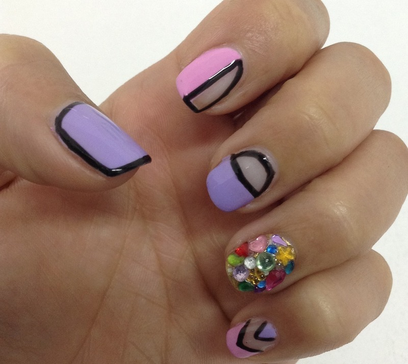 Geometric Surprise nail art by Idreaminpolish