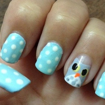 Dream Owl nail art by Idreaminpolish