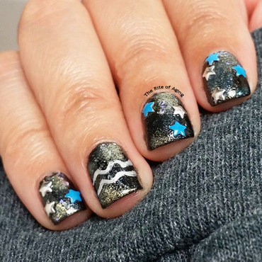 Aquarius Galaxy Nail Art nail art by Monica