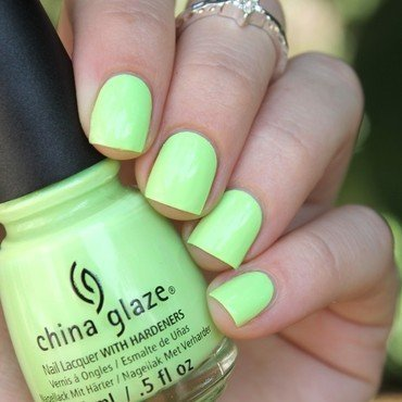 China Glaze Grass is lime greener Swatch by Cocosnailss