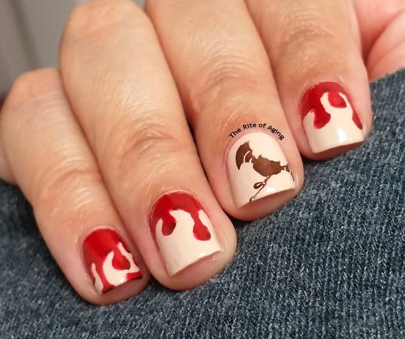 Vampire Blood Drips Nail Art nail art by Monica