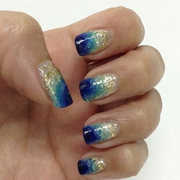 Ocean Blue nail art by Idreaminpolish