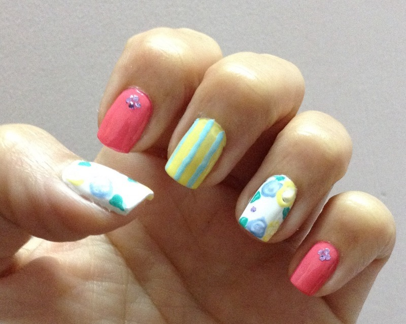 London Summer nail art by Idreaminpolish