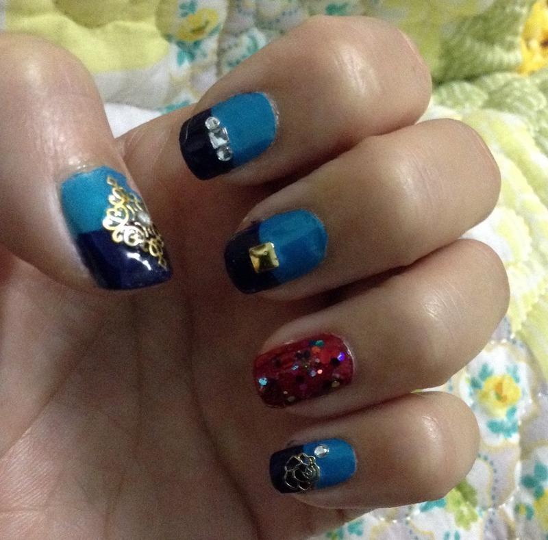 Egyptian Princess nail art by Idreaminpolish