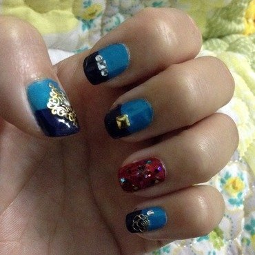 Egyptian Princess nail art by Idreaminpolish