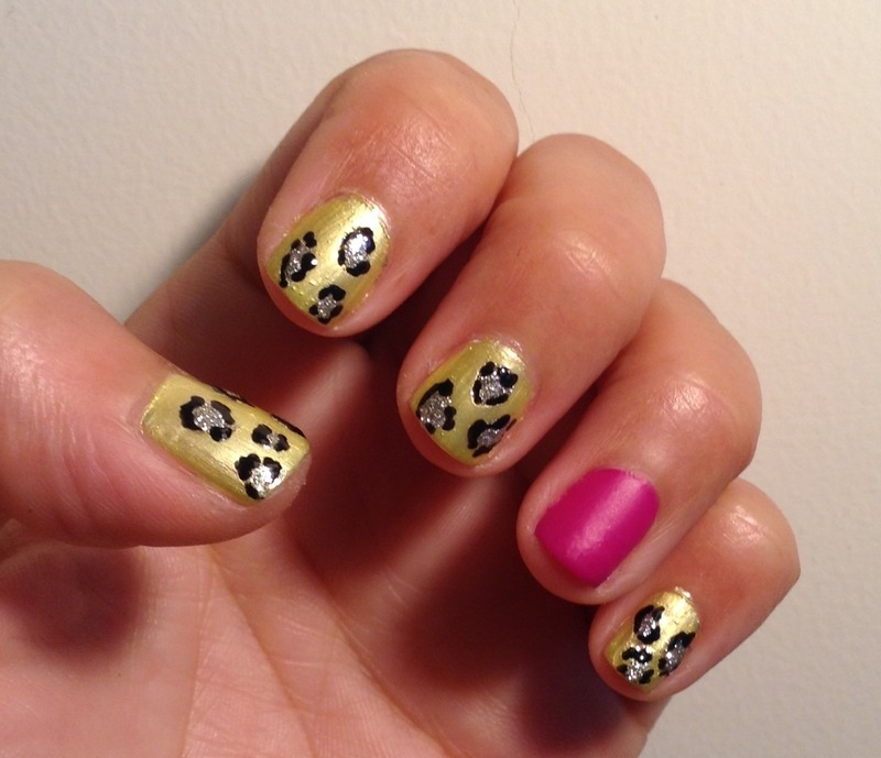 Neon Leopard nail art by Idreaminpolish