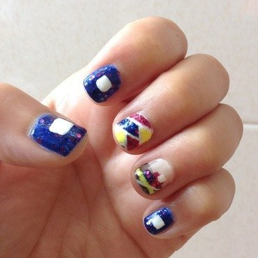 I Love Technology...and the 80s nail art by Idreaminpolish