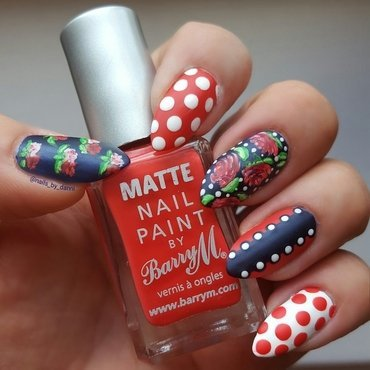 shabby chic mix up nail art by Danielle  Hails