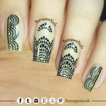 Black Lace nail art by BaroquenNails