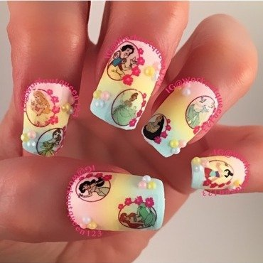 Disney  nail art by Workoutqueen123