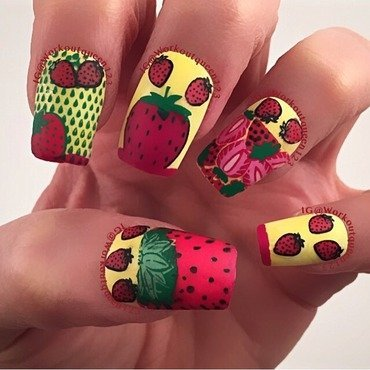 Strawberry Fields Forever nail art by Workoutqueen123