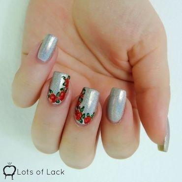 Mega and Roses nail art by LotsOfLack