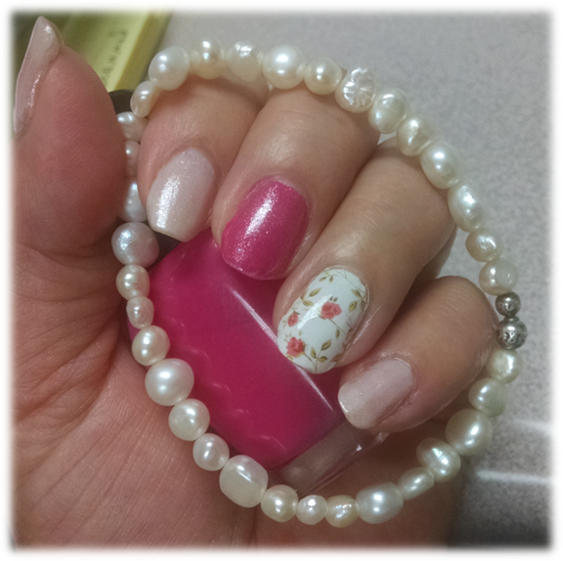 Romance with Pearls nail art by HELEN KAY - Nailpolis: Museum of
