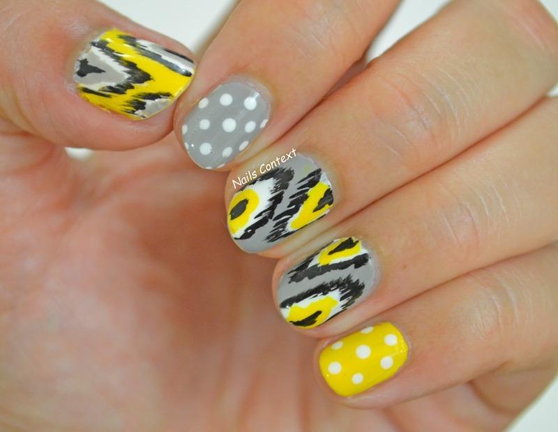 Ikat Print nail art by NailsContext