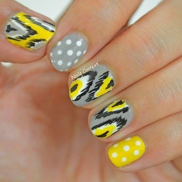 Ikat Print nail art by NailsContext