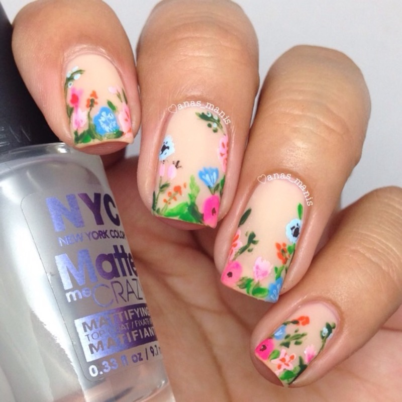Summer floral  nail art by anas_manis