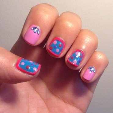 Secret Dot nail art by Idreaminpolish