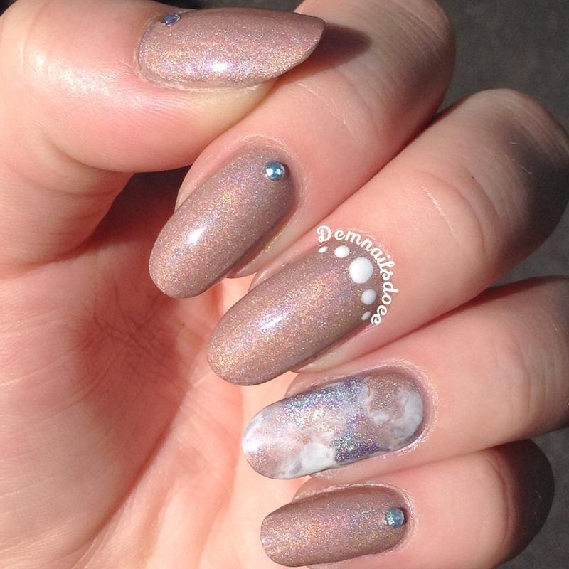 Holographic weddingnails nail art by demnailsdoee