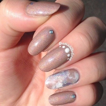 Holographic weddingnails nail art by demnailsdoee