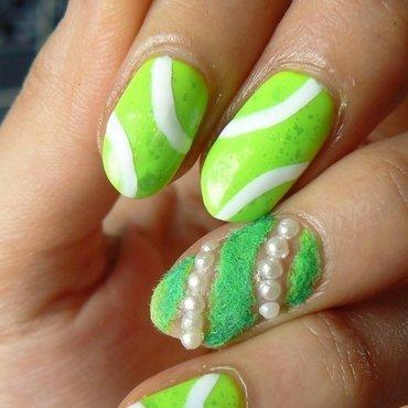 Wimbledon nail art by Aysha Baig